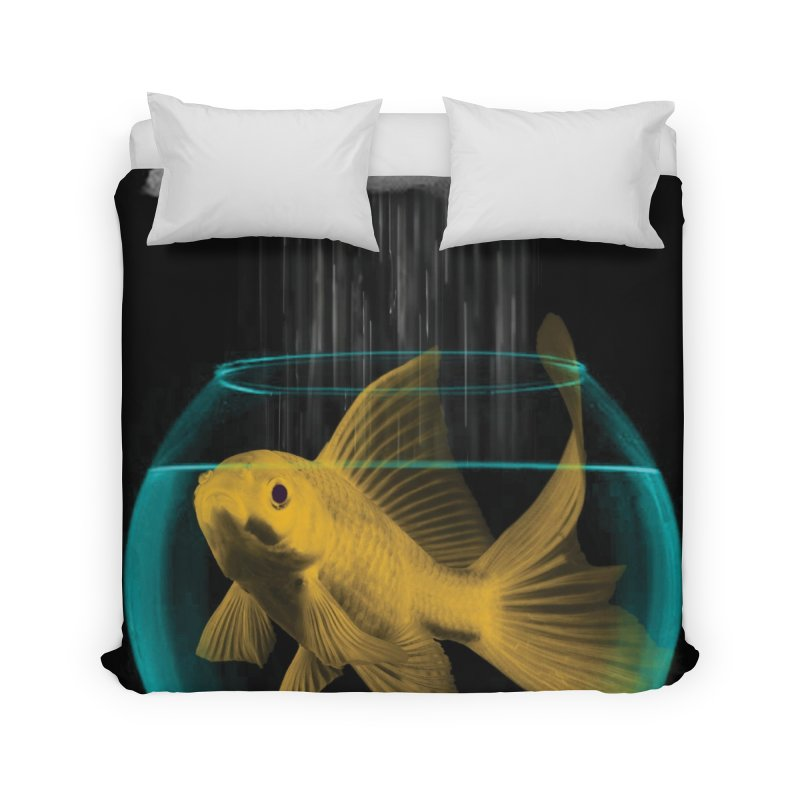 A Tight Spot in the Rain Home Duvet by vinzzep's Artist Shop