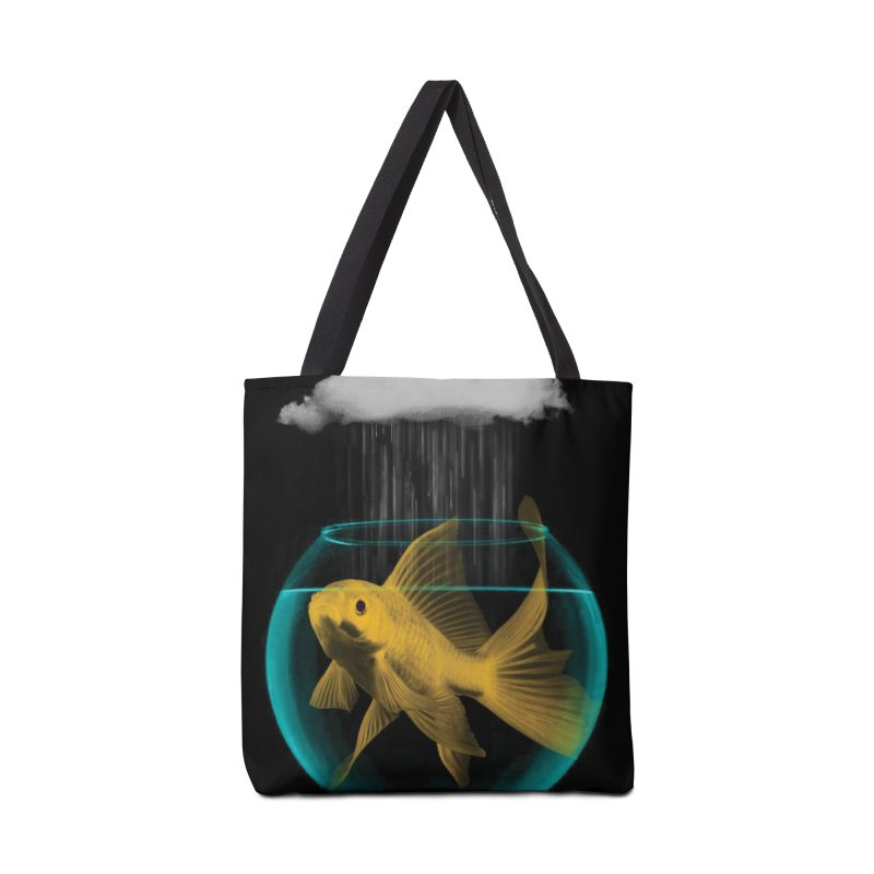 A Tight Spot in the Rain Accessories Bag by vinzzep's Artist Shop