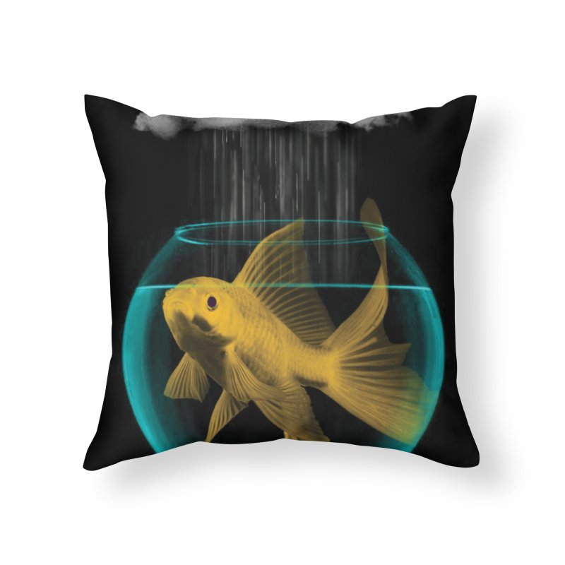 A Tight Spot in the Rain Home Throw Pillow by vinzzep's Artist Shop