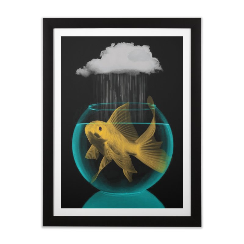A Tight Spot in the Rain Home Framed Fine Art Print by vinzzep's Artist Shop