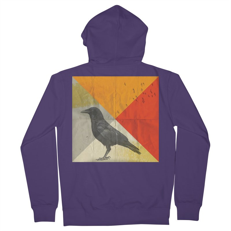 Angle of a Raven Women's Zip-Up Hoody by vinzzep's Artist Shop