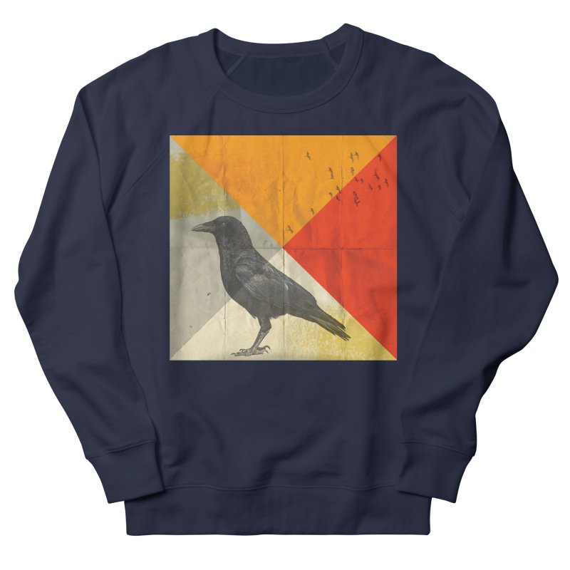 Angle of a Raven Men's Sweatshirt by vinzzep's Artist Shop