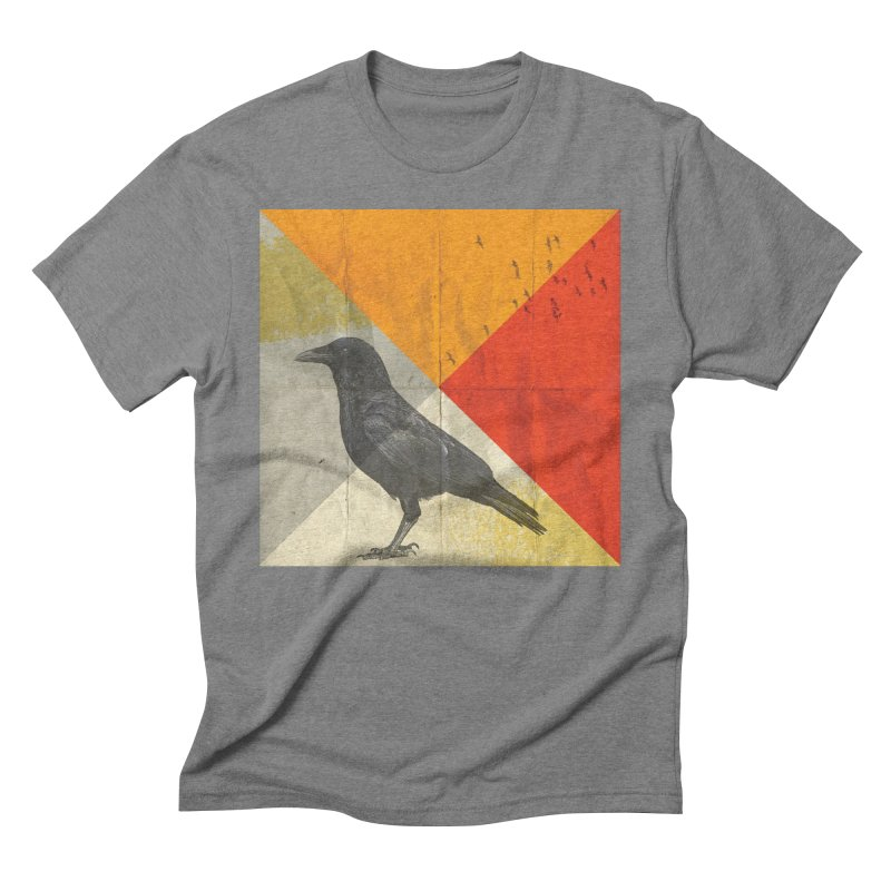 Angle of a Raven Men's Triblend T-shirt by vinzzep's Artist Shop