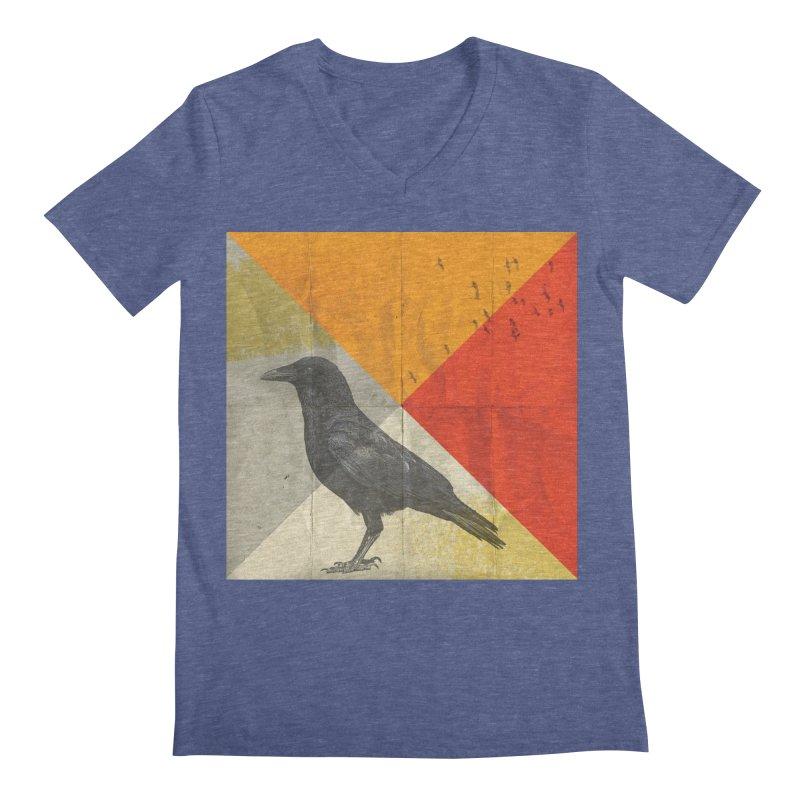 Angle of a Raven Men's V-Neck by vinzzep's Artist Shop