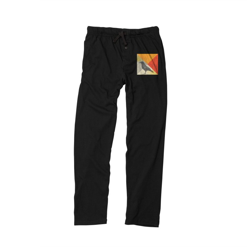 Angle of a Raven Men's Lounge Pants by vinzzep's Artist Shop