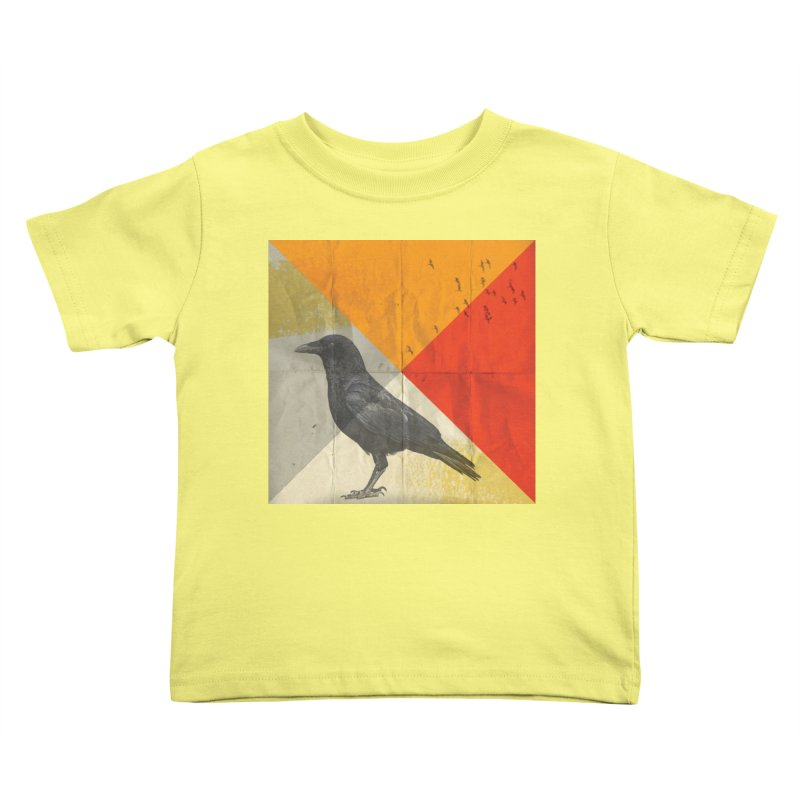Angle of a Raven Kids Toddler T-Shirt by vinzzep's Artist Shop