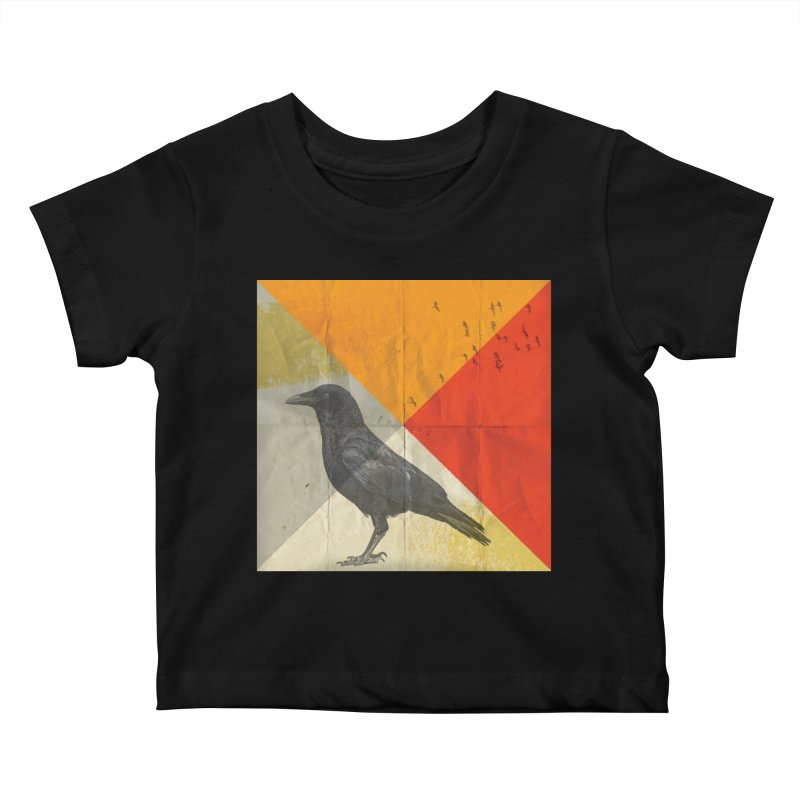 Angle of a Raven Kids Baby T-Shirt by vinzzep's Artist Shop