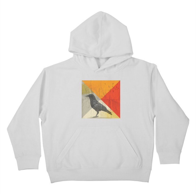 Angle of a Raven Kids Pullover Hoody by vinzzep's Artist Shop