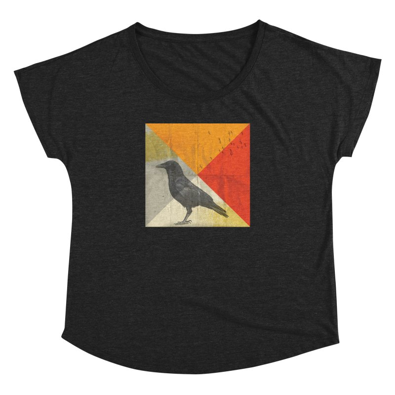 Angle of a Raven Women's Dolman by vinzzep's Artist Shop