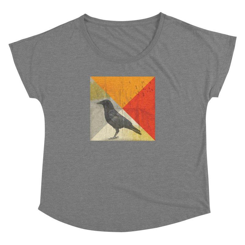 Angle of a Raven Women's Dolman by vinzzep's Artist Shop