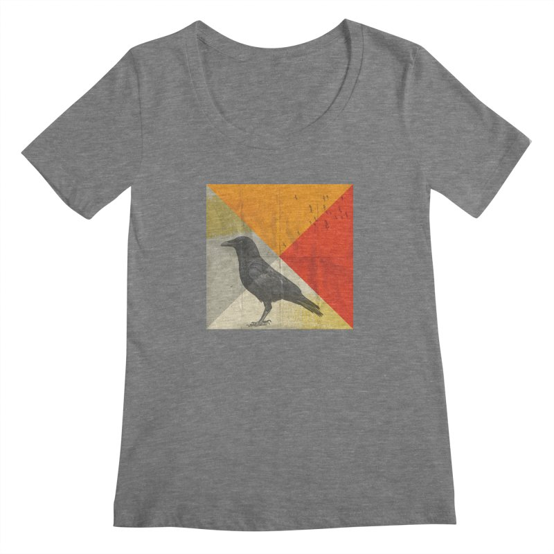 Angle of a Raven Women's Scoopneck by vinzzep's Artist Shop