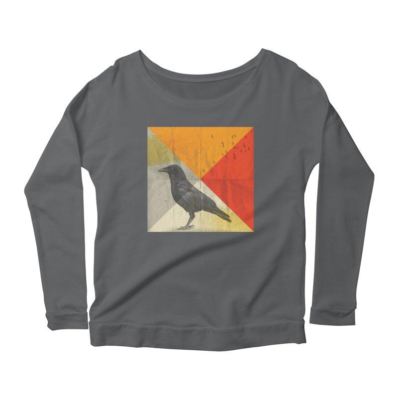 Angle of a Raven Women's Longsleeve Scoopneck  by vinzzep's Artist Shop
