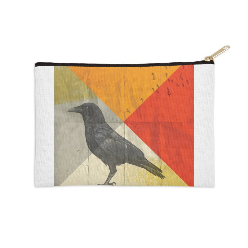 Angle of a Raven Accessories Zip Pouch by vinzzep's Artist Shop