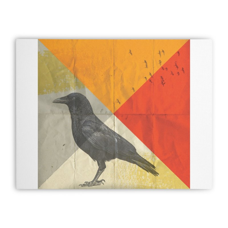 Angle of a Raven Home Stretched Canvas by vinzzep's Artist Shop