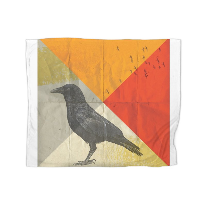 Angle of a Raven Home Blanket by vinzzep's Artist Shop