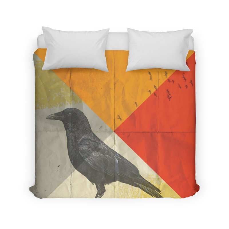 Angle of a Raven Home Duvet by vinzzep's Artist Shop