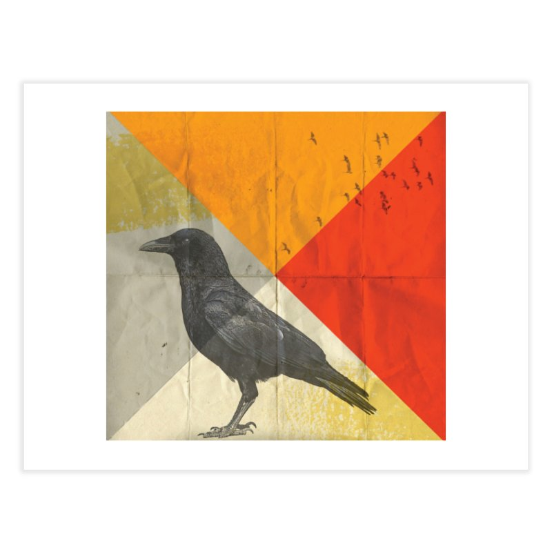 Angle of a Raven Home Fine Art Print by vinzzep's Artist Shop