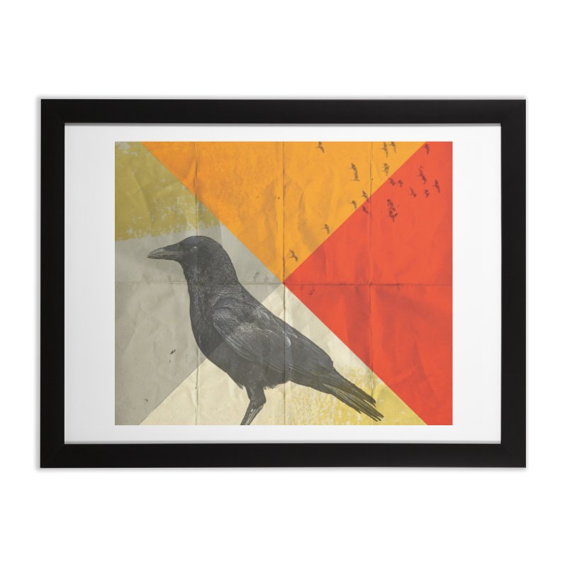 Angle of a Raven Home Framed Fine Art Print by vinzzep's Artist Shop