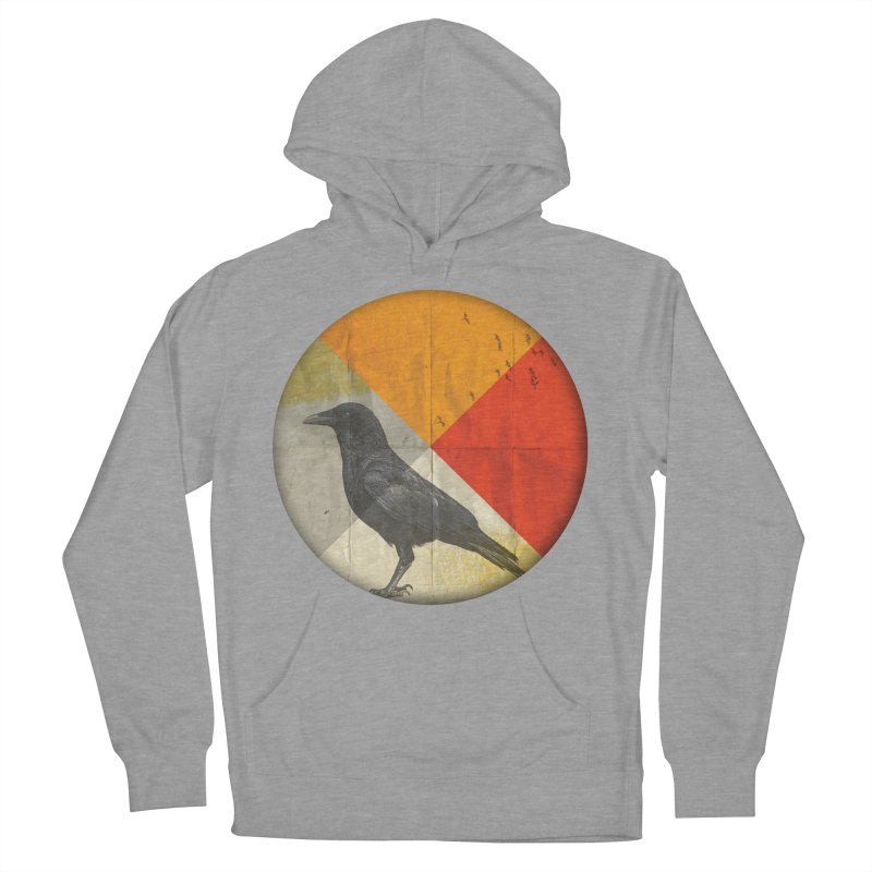 Angle of a Raven Men's Pullover Hoody by vinzzep's Artist Shop