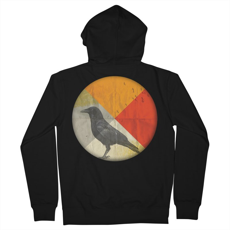 Angle of a Raven Men's Zip-Up Hoody by vinzzep's Artist Shop