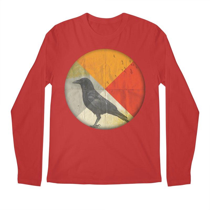 Angle of a Raven Men's Longsleeve T-Shirt by vinzzep's Artist Shop