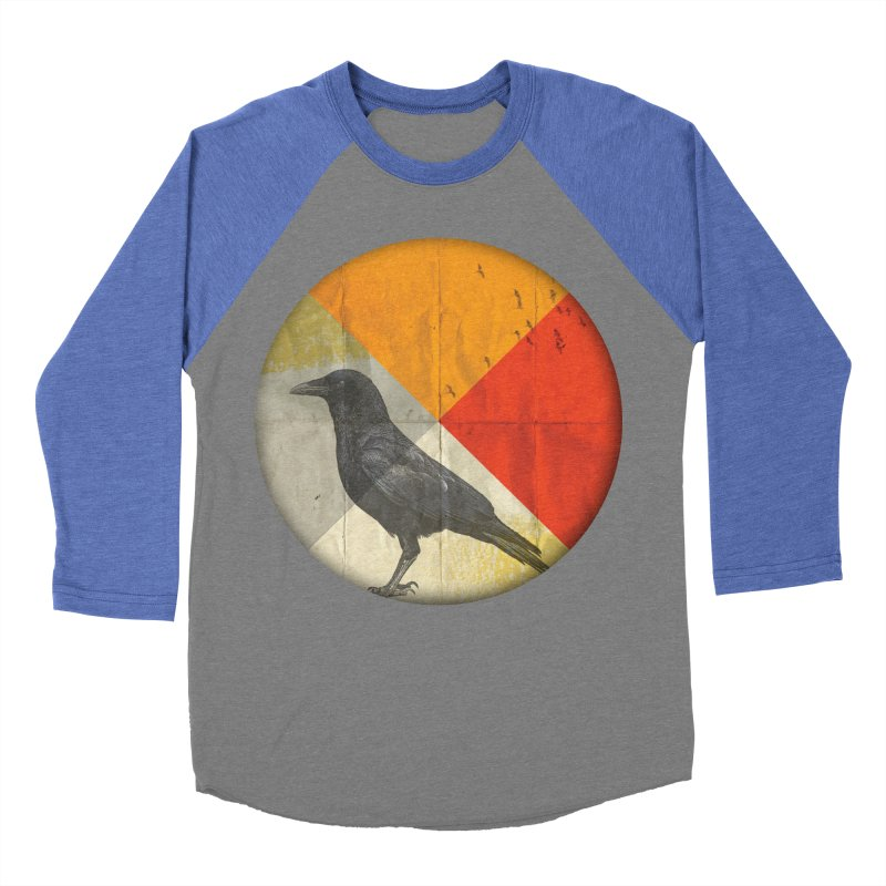 Angle of a Raven Women's Baseball Triblend T-Shirt by vinzzep's Artist Shop