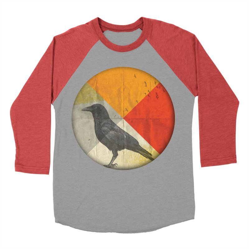 Angle of a Raven Men's Baseball Triblend T-Shirt by vinzzep's Artist Shop
