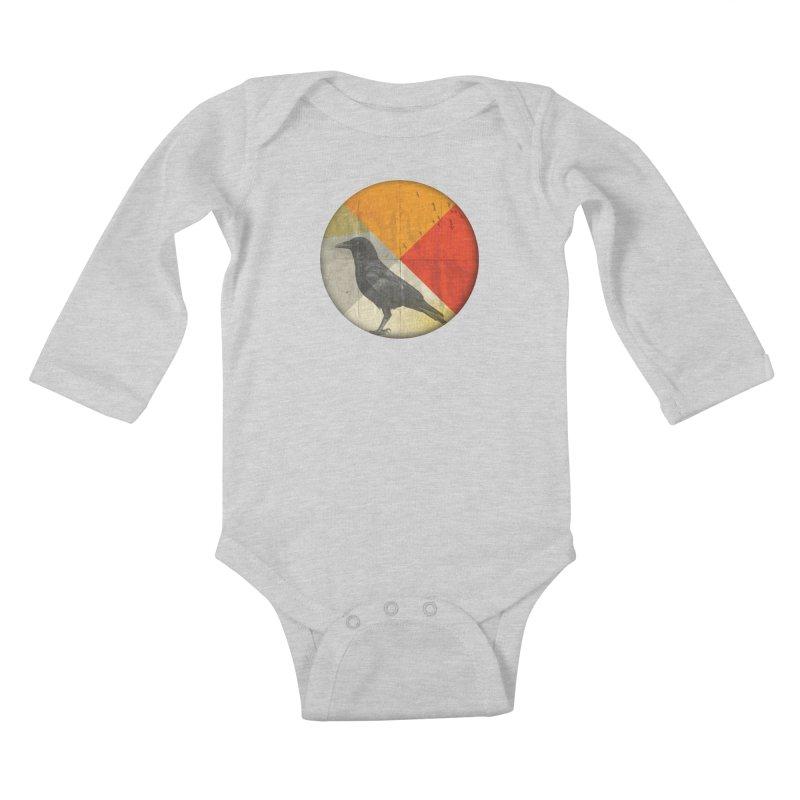 Angle of a Raven Kids Baby Longsleeve Bodysuit by vinzzep's Artist Shop