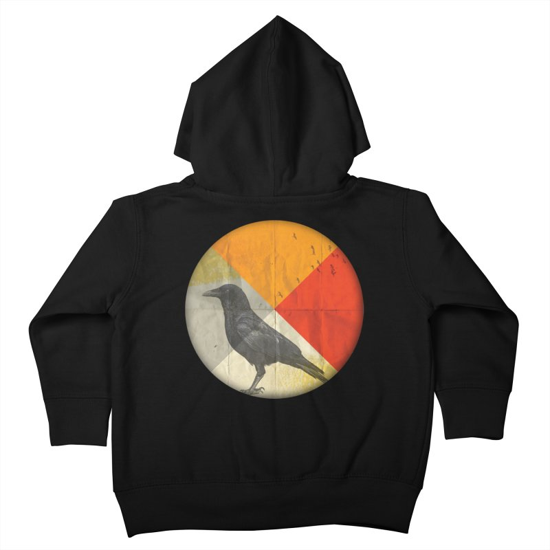 Angle of a Raven Kids Toddler Zip-Up Hoody by vinzzep's Artist Shop