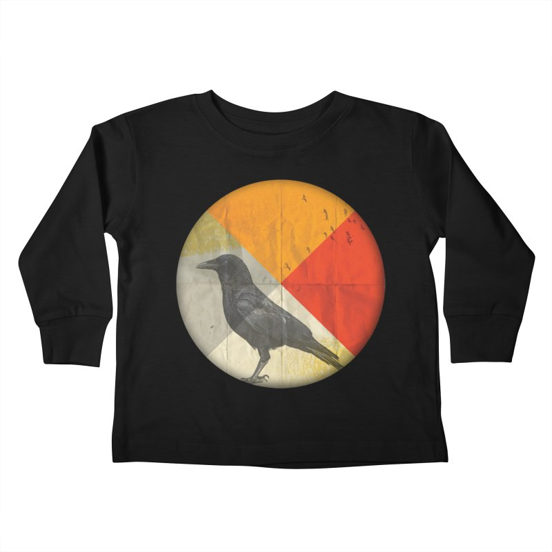 Angle of a Raven Kids Toddler Longsleeve T-Shirt by vinzzep's Artist Shop