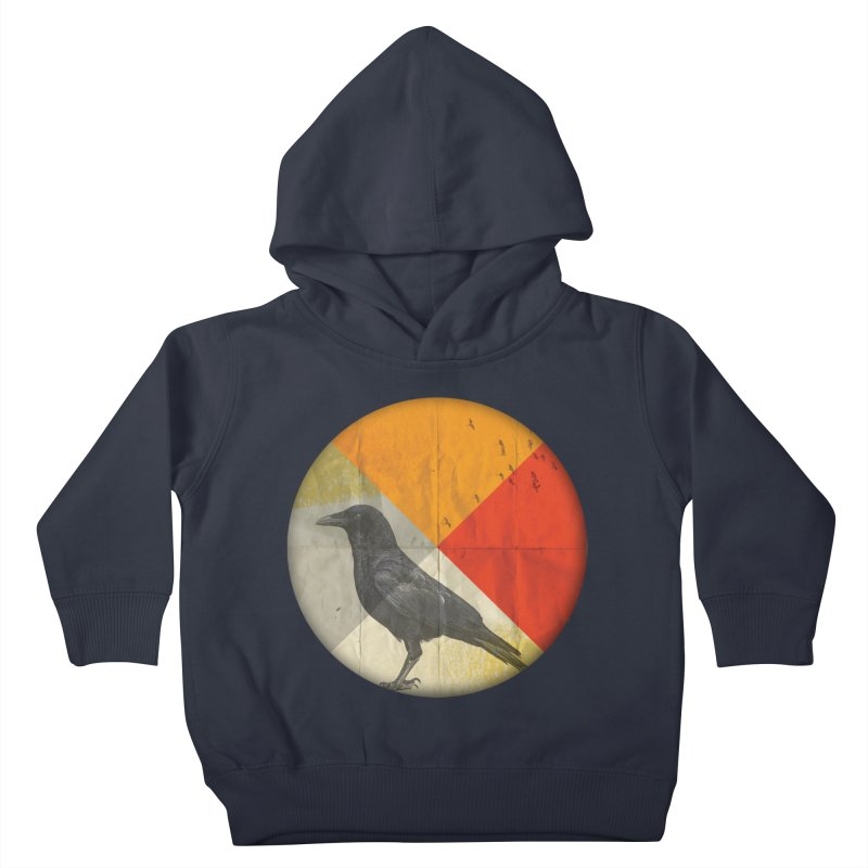 Angle of a Raven Kids Toddler Pullover Hoody by vinzzep's Artist Shop
