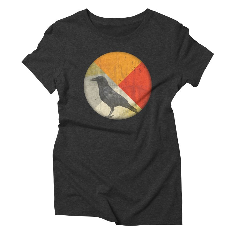 Angle of a Raven Women's Triblend T-shirt by vinzzep's Artist Shop