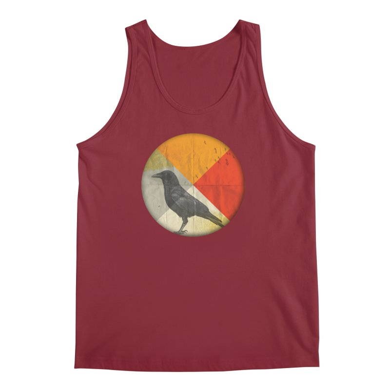 Angle of a Raven Men's Tank by vinzzep's Artist Shop