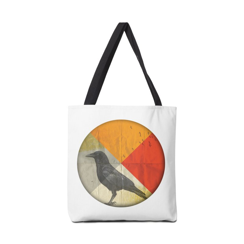 Angle of a Raven Accessories Bag by vinzzep's Artist Shop