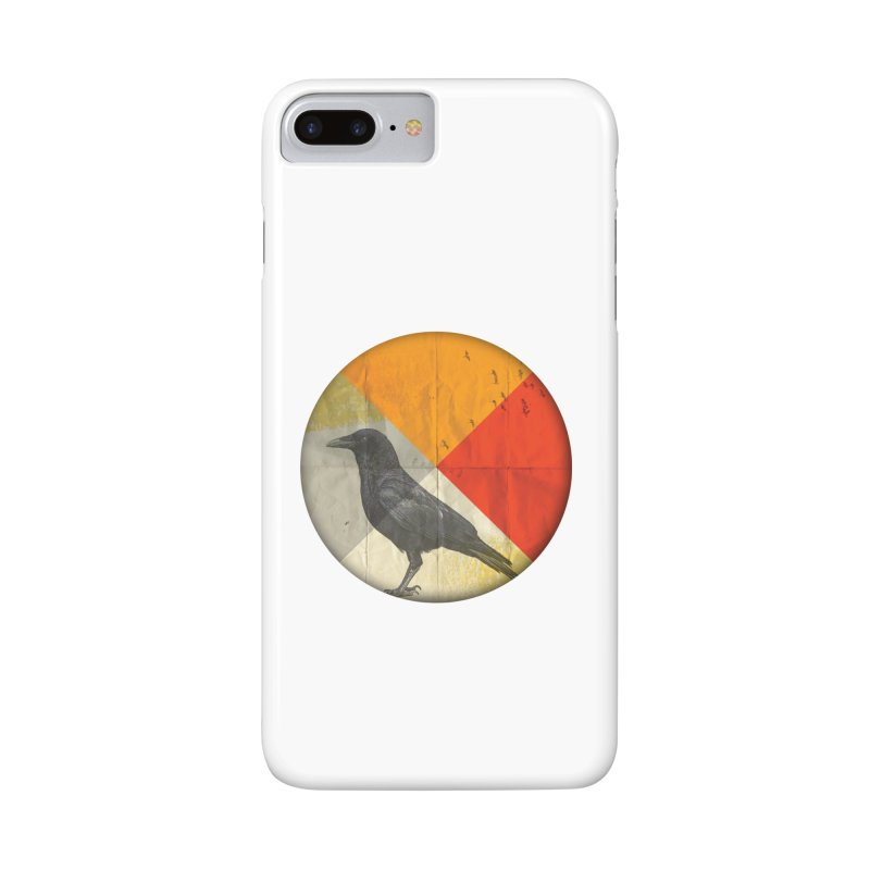 Angle of a Raven Accessories Phone Case by vinzzep's Artist Shop