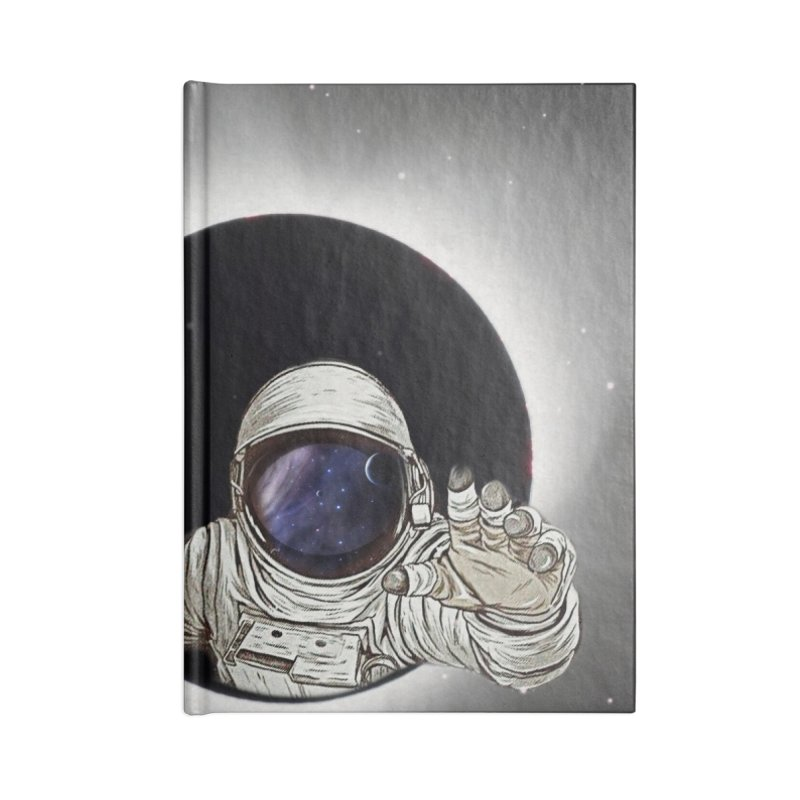 Astronaut  Eclipse Accessories Notebook by Vin Zzep's Artist Shop
