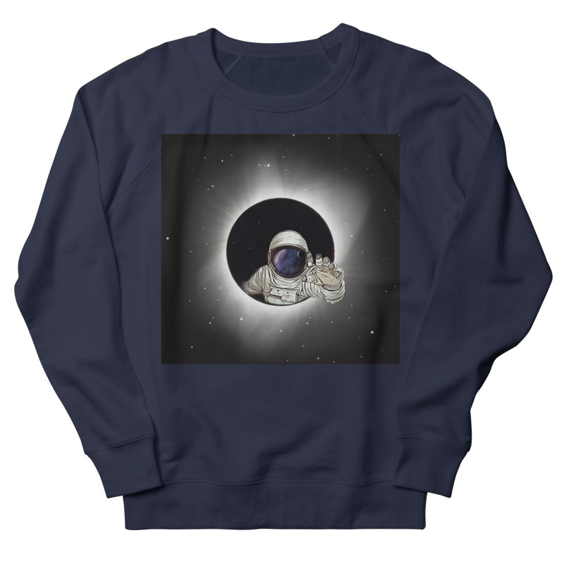 Astronaut  Eclipse Women's Sweatshirt by Vin Zzep's Artist Shop