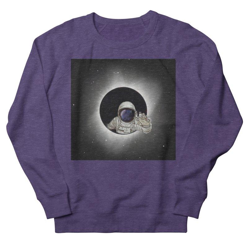 Astronaut  Eclipse Men's Sweatshirt by Vin Zzep's Artist Shop