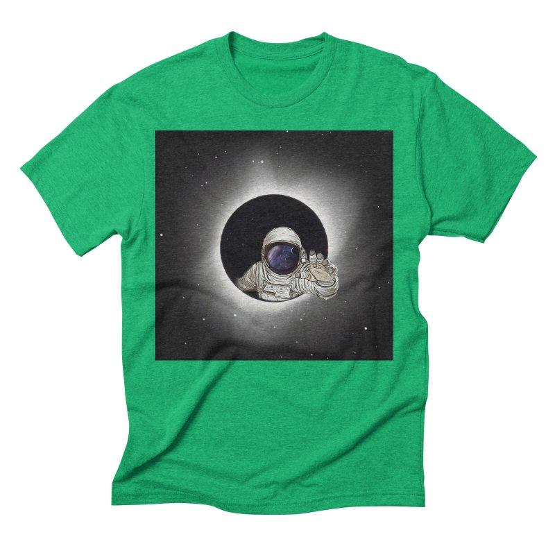 Astronaut  Eclipse Men's Triblend T-Shirt by Vin Zzep's Artist Shop