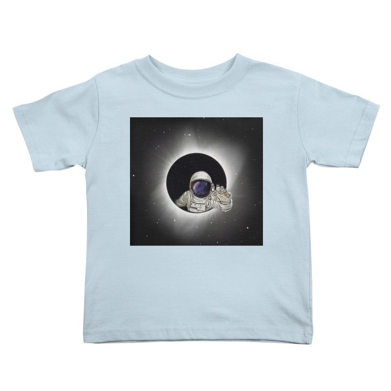 Astronaut  Eclipse Kids Toddler T-Shirt by Vin Zzep's Artist Shop