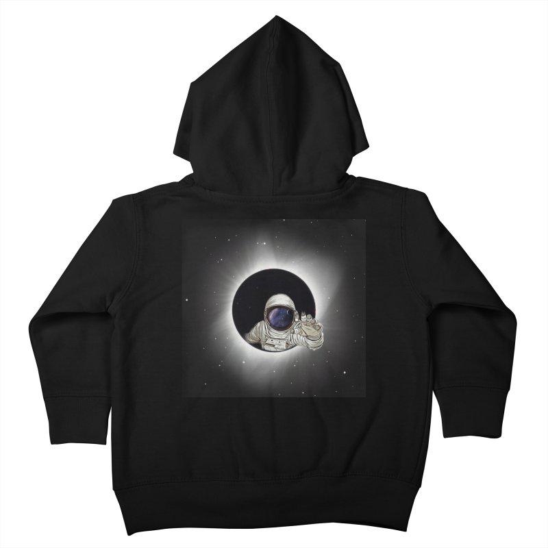 Astronaut  Eclipse Kids Toddler Zip-Up Hoody by Vin Zzep's Artist Shop