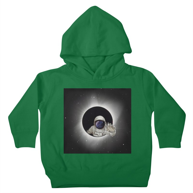 Astronaut  Eclipse Kids Toddler Pullover Hoody by Vin Zzep's Artist Shop