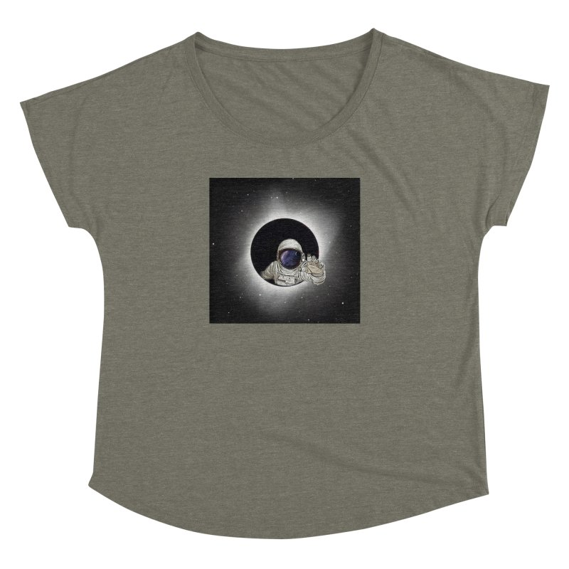 Astronaut  Eclipse Women's Dolman by Vin Zzep's Artist Shop