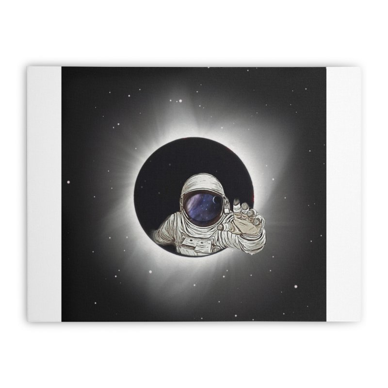 Astronaut  Eclipse Home Stretched Canvas by Vin Zzep's Artist Shop