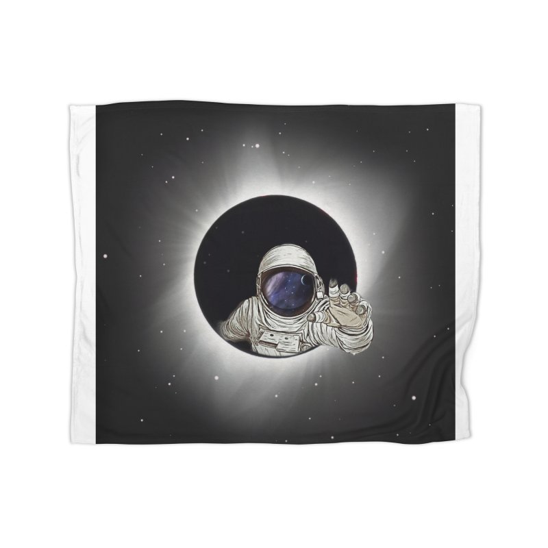 Astronaut  Eclipse Home Blanket by Vin Zzep's Artist Shop