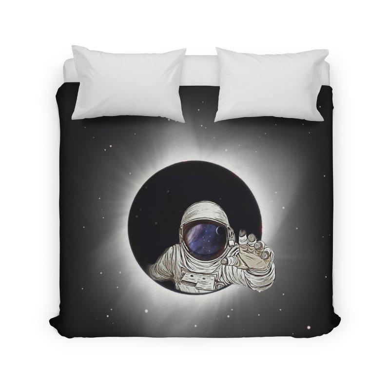 Astronaut  Eclipse Home Duvet by Vin Zzep's Artist Shop
