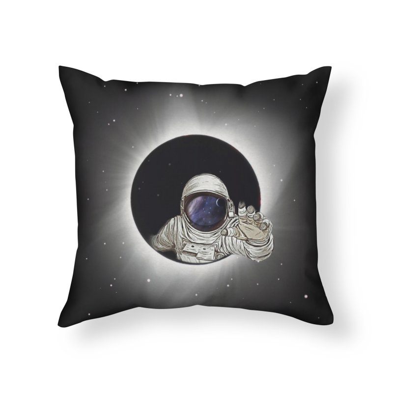 Astronaut  Eclipse Home Throw Pillow by Vin Zzep's Artist Shop