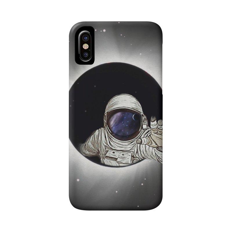 Astronaut  Eclipse Accessories Phone Case by Vin Zzep's Artist Shop