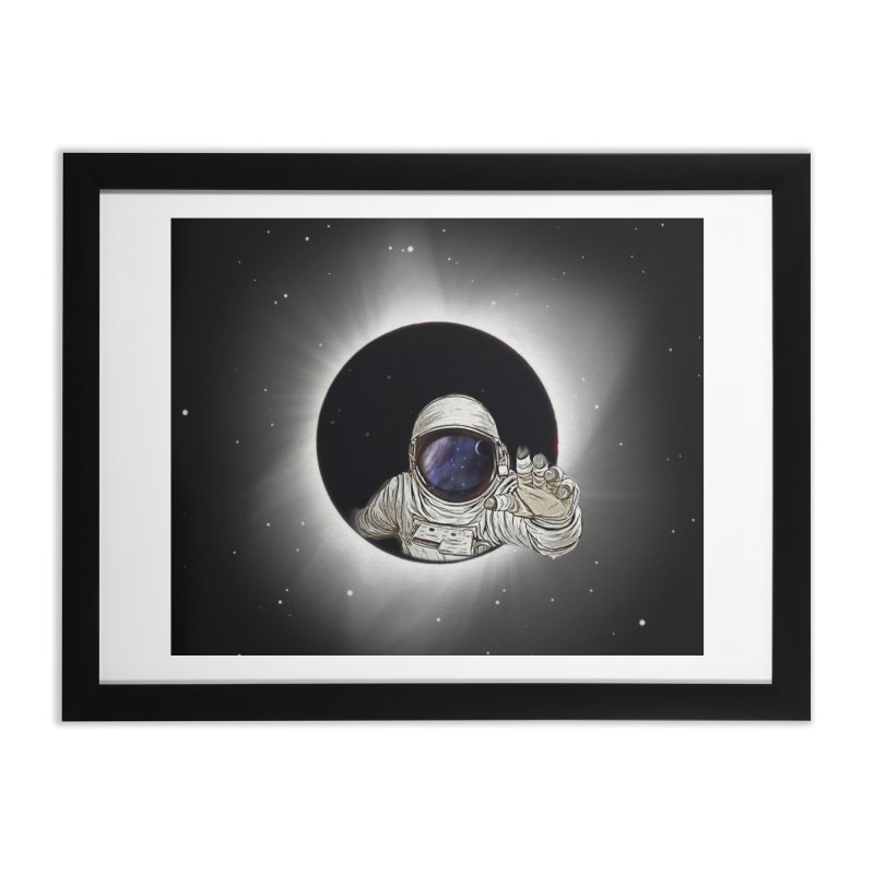 Astronaut  Eclipse Home Framed Fine Art Print by Vin Zzep's Artist Shop
