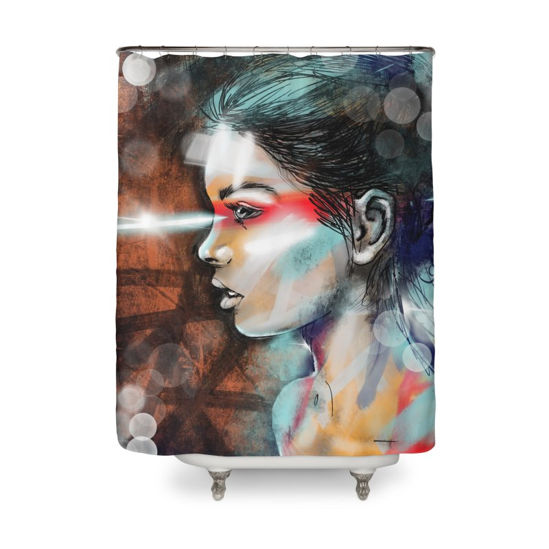 Nova Spike Home Shower Curtain by Vin Zzep's Artist Shop